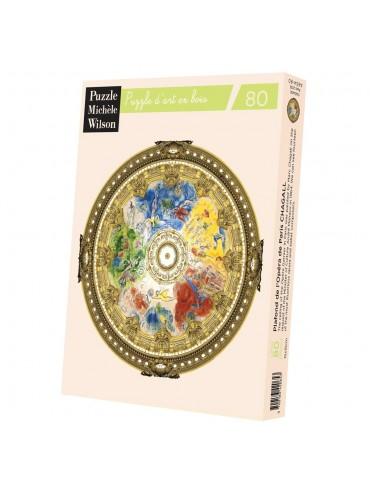 Puzzle Adulte 80 Pièces Plafond Opéra de Paris Chagall
