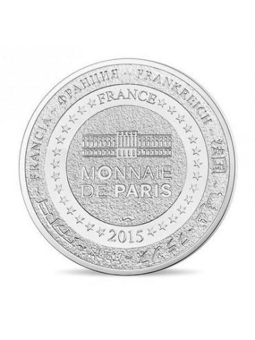 Eiffel Tower Champs de Mars postcard with Mini-Medal