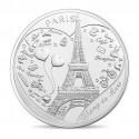 Cartelette Tour Eiffel Champs de Mars avec Mini-Médaille