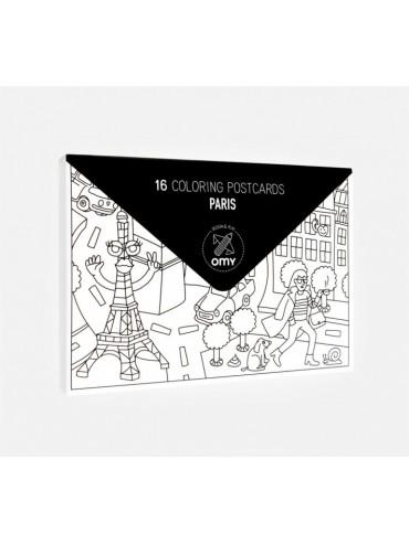 Cartes Postales à Colorier - Paris