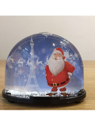 Christmas Snow Globe with Eiffel Tower