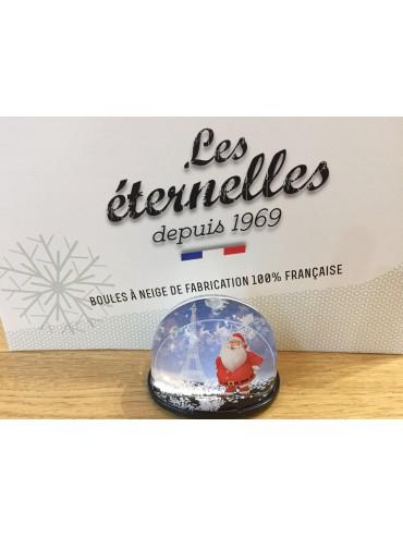 Christmas Snow Globe with Eiffel Tower