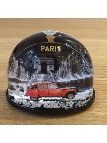 Champs Elysées by 2CV Snow Globe