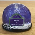 Champs Elysées Snow Globe Made in France