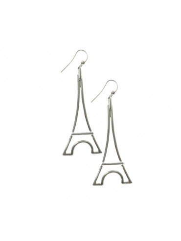 Silver Plated Earring Eiffel Tower