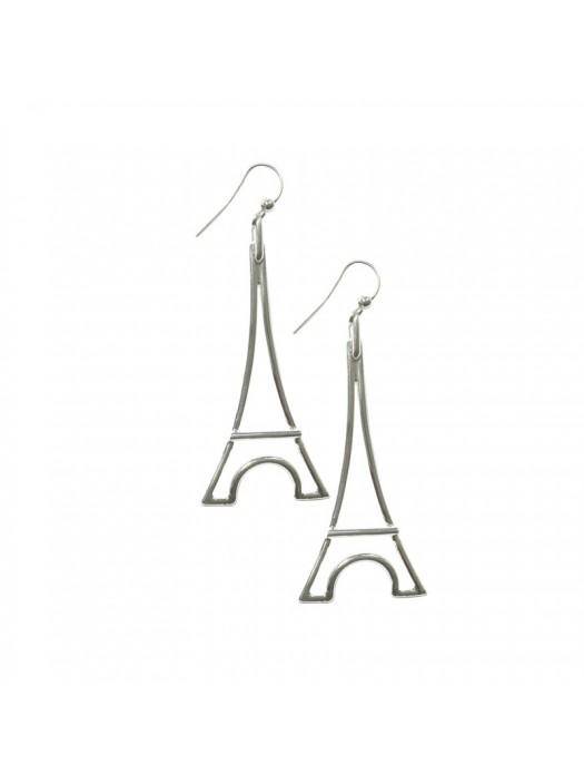 Silver Plated Earring Eiffel Tower