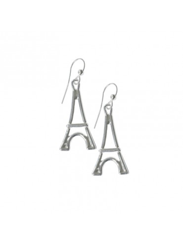 Silver plated Earring Small Eiffel Tower