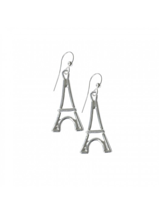 Silver plated Earring Big Eiffel Tower