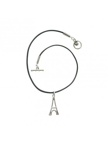 Silver plated Necklace Eiffel Tower - Small