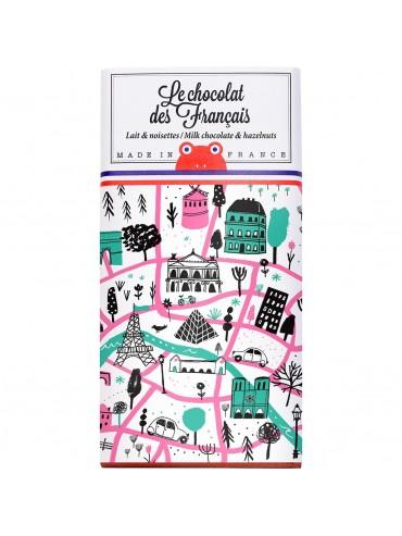 Tablette de Chocolat Lait Noisettes - Plan de Paris -Bio