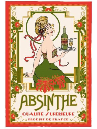 Torchon Coton Absinthe