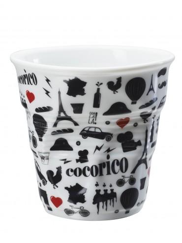 Gobelet Froissé Porcelaine Revol Cocorico 18 cl