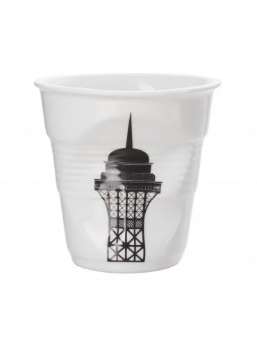 Gobelet Froissé Porcelaine Revol Tour Eiffel 18 cl