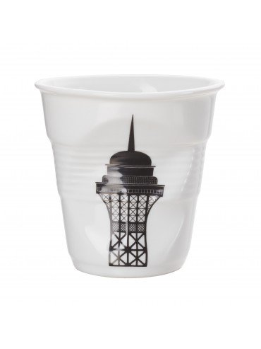 Revol Crumpled Porcelain Eiffel Tower Cappucino Cup